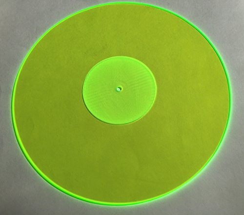 Acrylic Turntable Mat | GreenLit | LP Slipmat Made in USA (Turntable Mat)