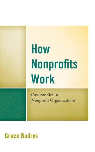How Nonprofits Work: Case Studies in Nonprofit Organizations