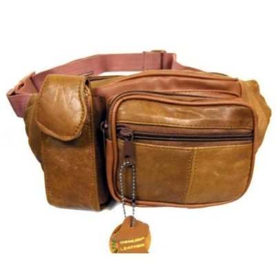 Tan Leather Fanny Pack, Outdoor Stuffs