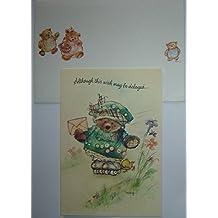 Hallmark 'Mary's Bears' Belated Birthday Greeting Card, Mary Hamilton (Vintage)