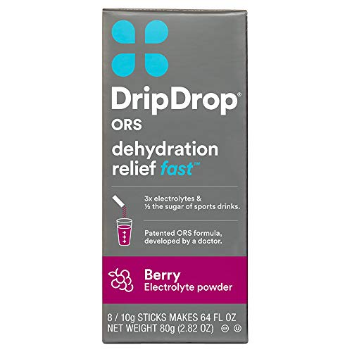 🥇 DripDrop ORS – Patented Electrolyte Powder for Dehydration Relief Fast – For Workout