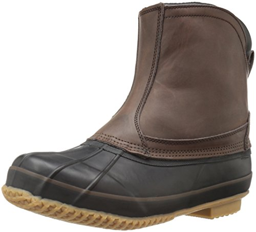 Northside Fairbanks Men's Waterproof Slip-on Duck Boot, Dark Brown, 11 M US