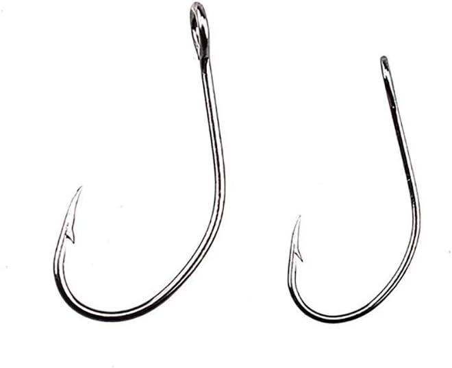 LMEIQUN, 20 unids/Pack Aparejos de Pesca Grandes Caballos Boca Paillette Solo Gancho Striga Hook Ganchos de Pesca púas Gancho (Color : 20pcs, Size : 4)