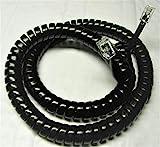 Lot of 100 Glossy Black 12' Ft Handset Cords for Shoretel 100 200 500 Series IP Phone 110 115 210 212 212K 230 230G 530 560 560G 565 565G SIA SEV (100-Pack) by DIY-BizPhones