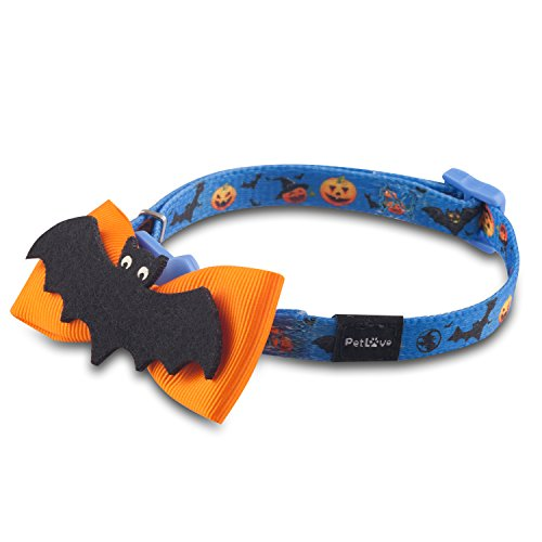 PetLove Universal Adjustable Safety Breakaway Cat Collars with bells for All Size of Cats - (Halloween Cat Collar)