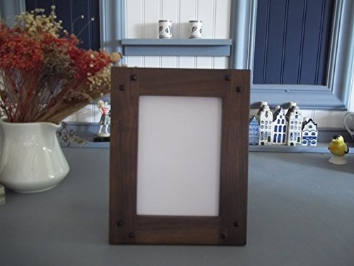"""Mission Style 8"""" X 10"""" Handmade Walnut """"Portriat """" Arts & Craft Frame from Augie's Woodworking"""