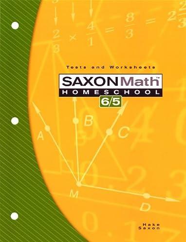 math worksheet : amazon  saxon math homeschool 6 5 tests and worksheets  : Saxon Math Worksheet