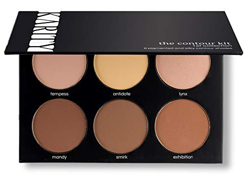 Contour Kit - 6 Pigmented Professional Contour Kit Makeup Palette Set Pro Palette High-end Formula (Highlight & Contour) - Step-by-Step Instructions Included