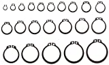 Carbon Steel External Retaining Ring Assortment (295 Pieces), Black Phosphate Finish, Metric, With Case