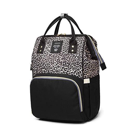 Rakkiss Ladies Leopard Handbag Shoulder Large Capacity Bottle Pack Shoulder Mummy Bag
