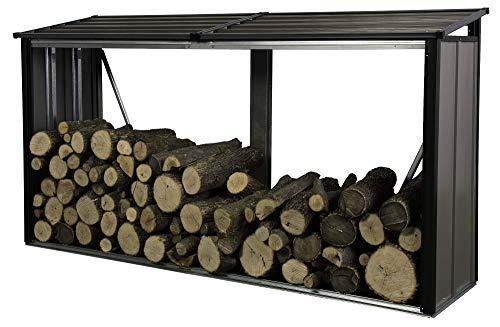 Arrow 90177 Firewood Rack 8 x 2 ft. Mocha Firewood & Hearth Products