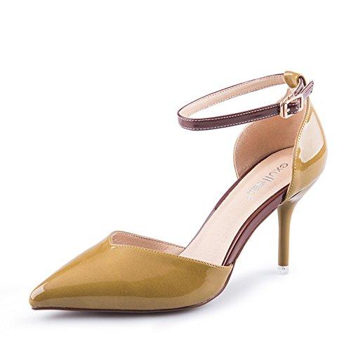 zapatos Asakuchi De tacones Ms Aguja Otoño señaló B HwqAv1nIg
