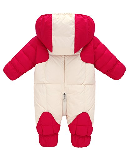 Wear Snowsuit Snow Hooded Girl and Baby Kids Baby Romper Jacket Winter Warm Red Boy GainKee Puffer Down Duck Snowsuit Jumpsuit RqvvfA