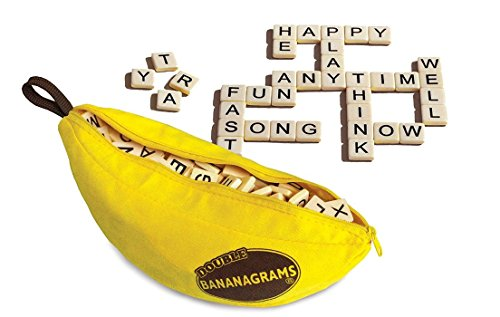 CERAMIC FORCE Bananagrams Game Set, The Spelling and Word Game for Kids, BANANAGRAMS Party Edition