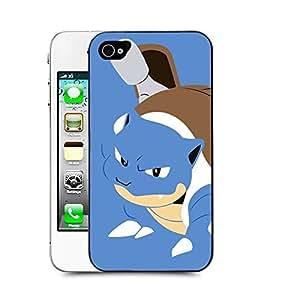 Case88 Designs Pokemon Blastoise Protective Snap-on Hard Back Case Cover for Apple iPhone 4 4s