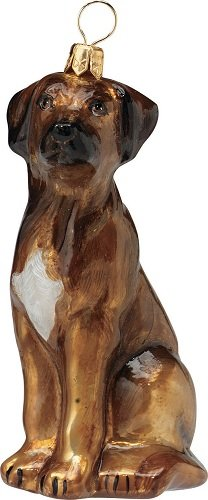 Rhodesian Ridgeback Dog Polish Glass Christmas Ornament Made Poland Decoration ()