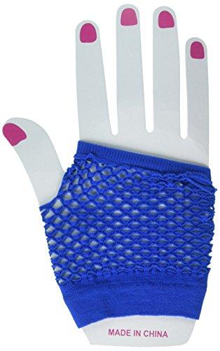 Forum Novelties Fingerless Fishnet Glove - Royal Blue]()