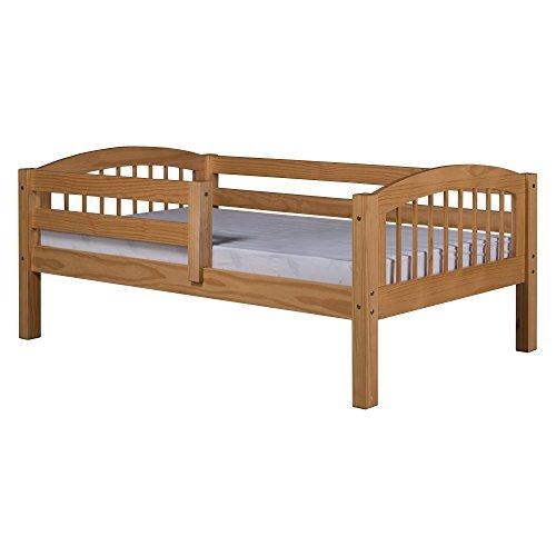 Bedroom Spindle (Camaflexi Arch Spindle Style Solid Wood Day Bed with Front Rail Guard, Twin, Natural)