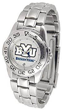 BYU Brigham Young University Ladies Stainless Steel Wristwatch by SunTime