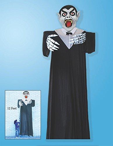 Spooky Scary Hanging 12' Ghoul IndoorOutdoor Prop Decoration (12 Foot Hanging Halloween Props)