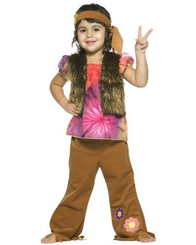 Toddler Little Hippie Girl Costume by Rasta Imposta - Size Toddler 3T-4T -