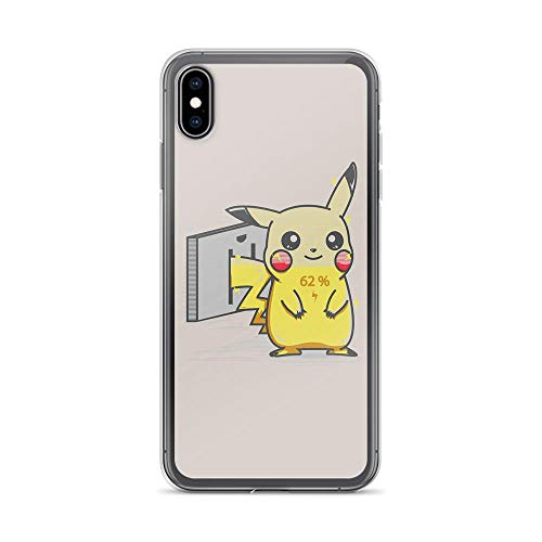 iPhone Xs Max Pure Clear Case Cases Cover Charge Cute Fictional Creatures Anime Comic Video Games ()