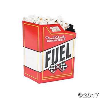 Race Car Fuel Can Popcorn Boxes - 24 (Race Car Supplies)