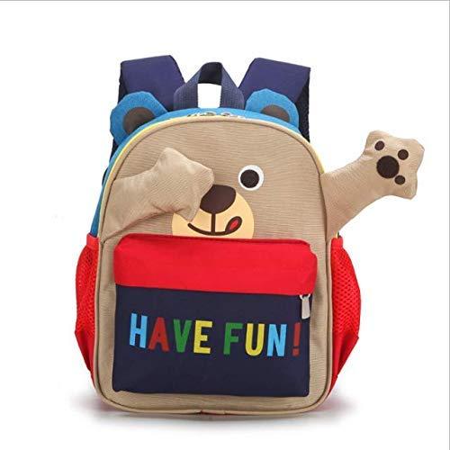 Toddler Kids Backpack Peek A Boo Bear Navy Blue