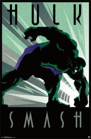 The Hulk Art Deco Poster