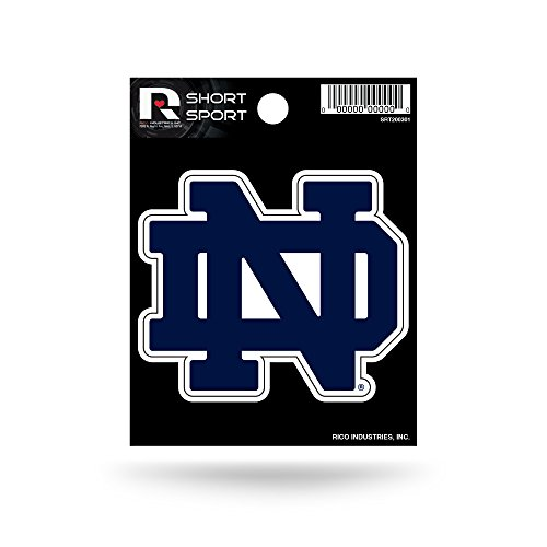 Rico Industries NCAA Notre Dame Fighting Irish Die Cut Team Logo Short Sport Sticker