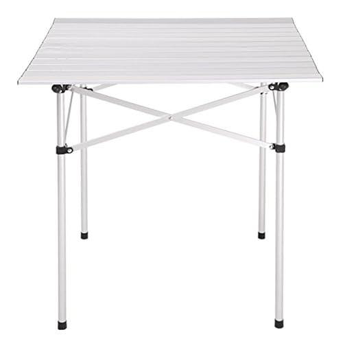 TOOGOO(R) Portable pliable pour camping pique-nique peche en plein air table carree d'argent
