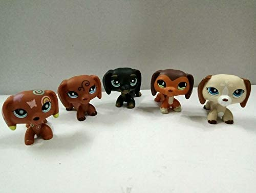 5pcs Littlest Pet Shop LPS#1010#325 Figure Dashchund  Dogs Kid Toy