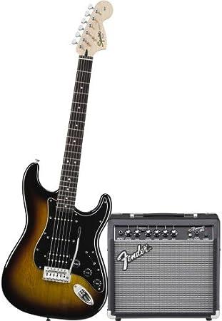 Fender Guitarra eléctrica Squier Affinity Strat HSS BSB + 15 g Amp ...