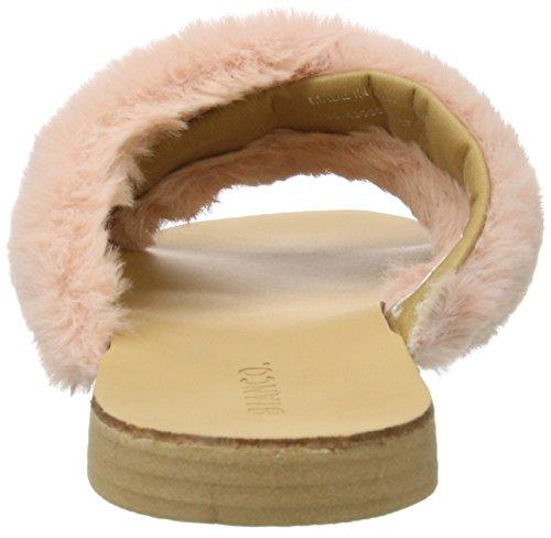 Bianco Plüsch Pantolette - Mules Mujer Rosa Rosa (Rose)