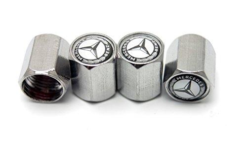 Best chrome metal tire valve stem caps for mercedes benz for Mercedes benz valve stem caps