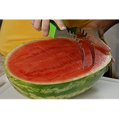 Slice Right - 2 Pack - Slice Melons Right Out of the Rind! Original  As Seen on TV  unit! Don't be fooled by imitations!