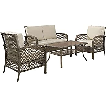 Amazon Com Crosley Furniture Tribeca 4 Piece Outdoor