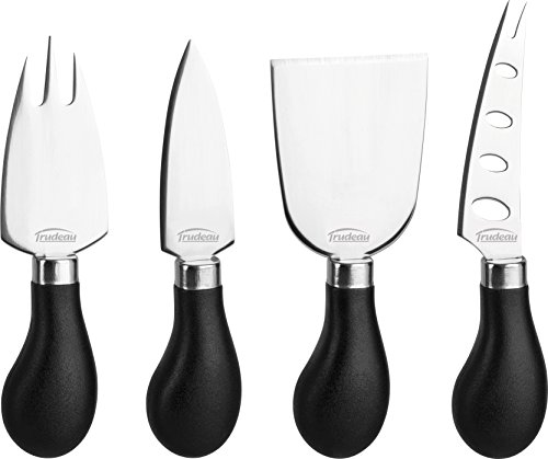 - Trudeau Stainless Steel 4 Piece Specialty Cheese Knife Set