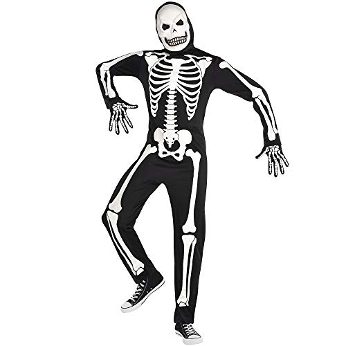 Halloween Costumes City Of Bones (Party City Glow-in-The-Dark X-Ray Skeleton Halloween Costume for Adults, Standard, with)