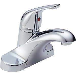 Delta B501LF Foundations Single Handle Bathroom Faucet Less Pop-Up, Chrome
