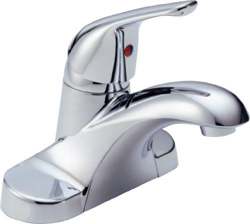 Delta B501LF Foundations Single Handle Bathroom Faucet Less Pop-Up, Chrome ()