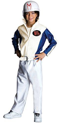 Boys Speed Racer Deluxe Kids Child Fancy Dress Party Halloween Costume, L (Speed Racer Deluxe Racer)