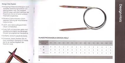 Wolle Kreativ Design Holz 60 cm lang Lana Grossa Rundstricknadel ø 3,5 mm