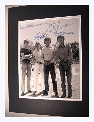 - Beatles Circa 1960,s 11x14 Double Matted 8x10 Photo Print John Lennon Ringo Paul Mccartney George Harrison Reprint Signatures Autograph