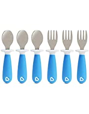 Munchkin Toddler Forks and Spoons Set, Raise , Blue, 12mth+, 2ct (Set of 3)