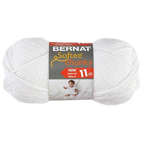 Bernat Softee Chunky Yarn, White, Single Ball - Bernat Crochet Patterns