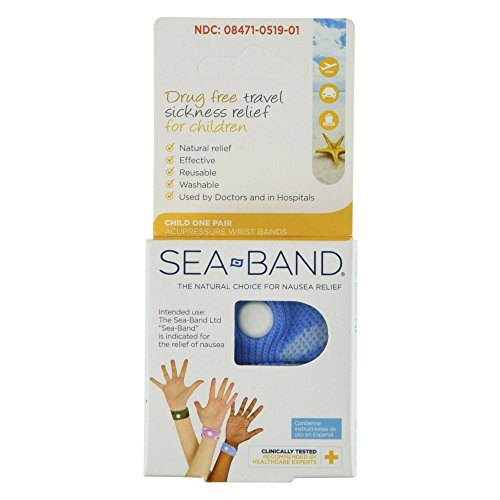 Cars Wristbands (Sea-Band Child Wristband Natural Nausea Relief, 1 Pair, Colors May Vary, Anti-Nausea Acupressure Wristband for Travel or Motion Sickness)