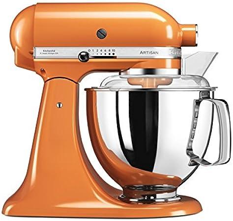 KitchenAid Artisan - Robot de cocina (4,8 L, Naranja, palanca, 220 RPM, 1,454 m, AC): Amazon.es: Hogar