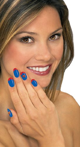 Supergirl Nail Art Kit (No Tool Halloween Nail Art)