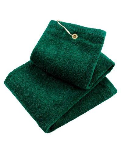 - Port Authority TW50 Grommeted Tri-Fold Golf Towel - Hunter - OSFA